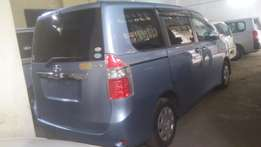 Fully loaded Sky-blue Toyota Noah available for sale.