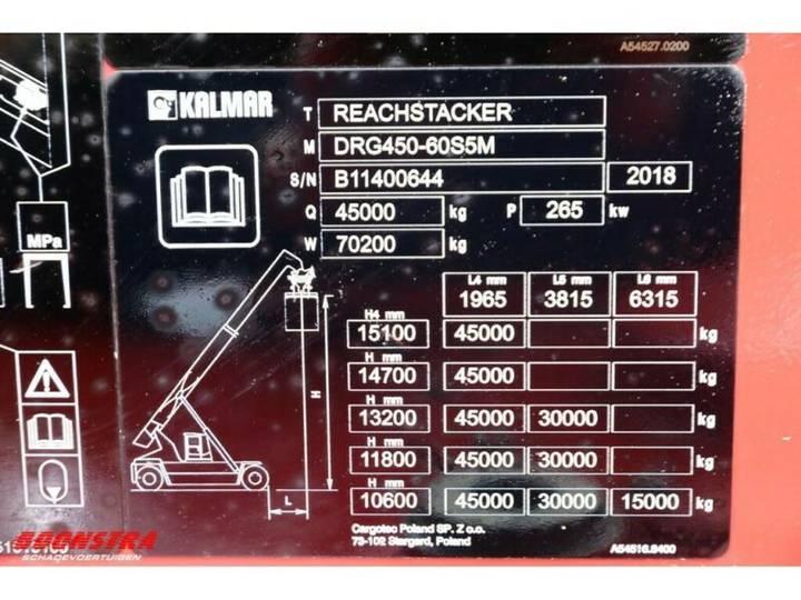 Kalmar Drg 450-60s5m Reachstacker 45.000 Kg - 2018 - image 19