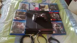 playstation 4 plus 8 games