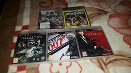 5 ps3 games including injustice and hitman