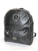 fd4a1ab3e2aba Philipp Plein Damski czarny plecak z ćwiekami żyletki black goth
