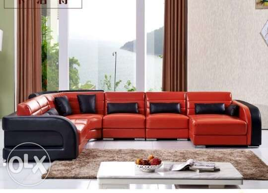 Used Red faux sofa Eastleigh - image 1