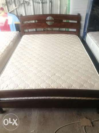 Indian bed with 2 table side and L shape sofa
