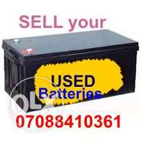 Old house battery in Lagos
