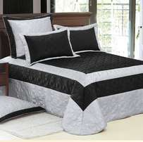 Faux Leather bedspread Set With Quilting