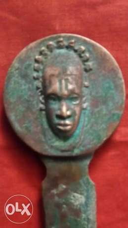 Old africian statue book opener