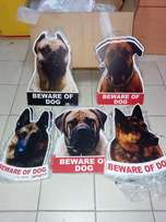 Durable and waterproof Dog Gate signs All for Grabs