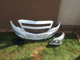 Cheve front bumper and headlamp
