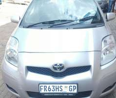 2011 1.3 Silver Toyota Yaris for sale R79k neg.