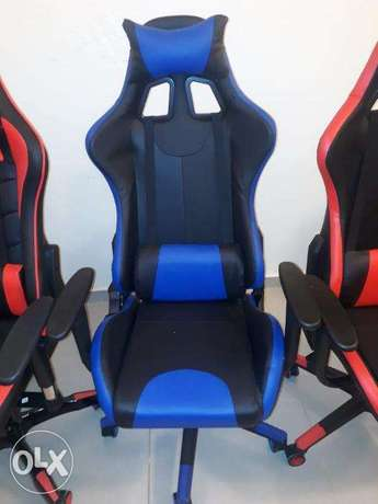 Game Chair Red and Blue