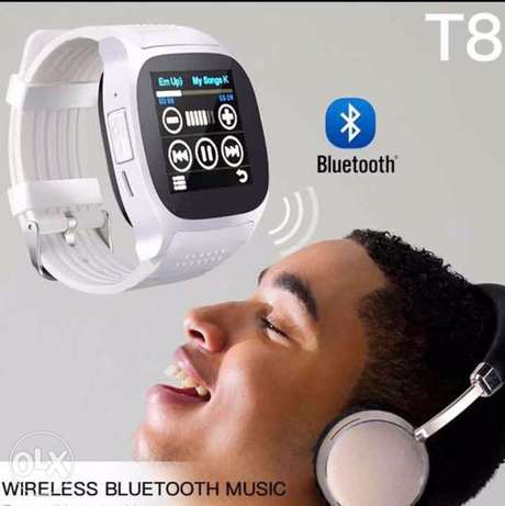 T8 Bluetooth Smart Watch With Camera Facebook Whatsapp Support SIM TF