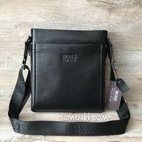 bbf2317b2382 Мужская кожаная сумка Hugo Boss через плечо