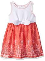Youngland Girls Tie Front Dress - 3-5Yrs