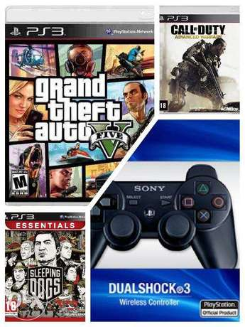 New PS3 Controller + 3 Games (CDs)