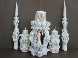 Wedding carved candles