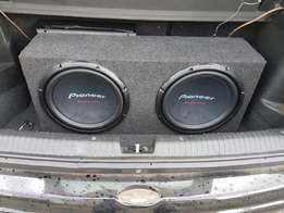2 x pioneer champion series subs in box