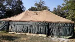 Army tent.