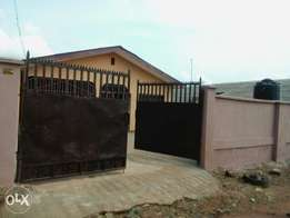 3br Flat (alone in compound) fenced/gate/borehole at Oke Lantoro, Abk
