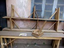 A pair of Long Bench And Table For Sale
