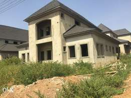 5 Bedroom Carcass in Riverpark Estate, Lugbe