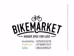 Looking for a mountain bike? We can help! Bike market higher specs for