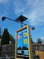 Solar for billboard and sign post