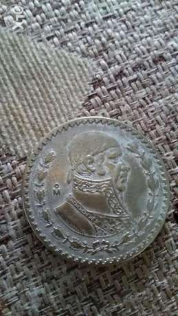 Mexico One Peso Nickel Large Coin Memorial year 1960