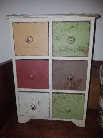 Small wooden cabinet with drawers Benoni - image 1