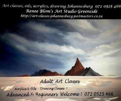 Adult Art Classes in Oils, Acrylics & Drawing Greenside Johannesburg