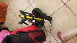 Kids golfset with trolley
