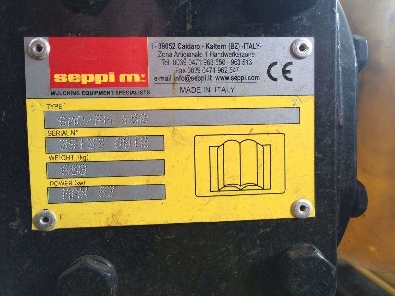 Seppi Mulcher Smo/fh150 for sale | Tradus