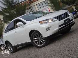 Lexus Rx 450h pearl white colour newshape 2012 model