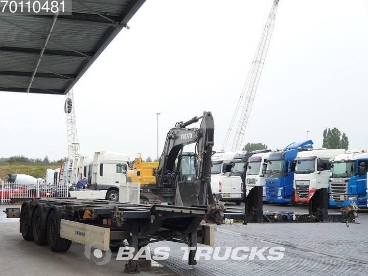 Krone 2x20-1x30-1x40ft. 3 axles Ausziehbar Extending Chassis - 2012 - image 3