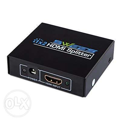 SWEES HDMI Splitter 1 In 2 Out (1x2) Amplifer بدعم Full HD 1080P