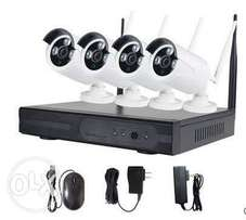 4 channels complete kit ip camera