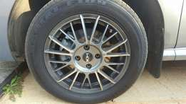 """15"""" rim and tyres all 4"""
