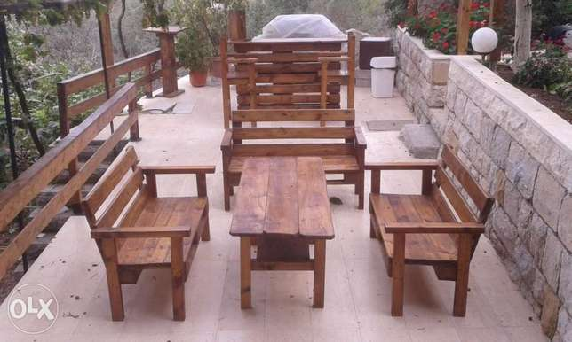 Offer for one month Three benches one table Cafe table free