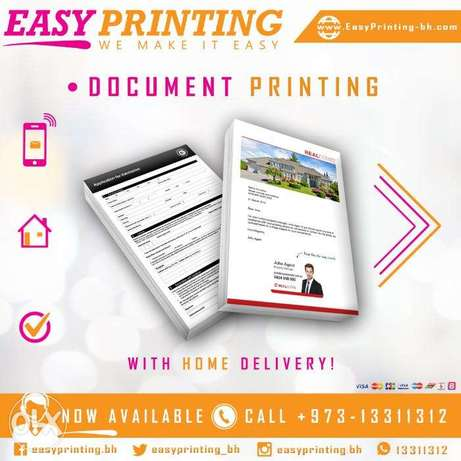Online Document Printing Service - with Home Delivery!