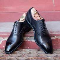Black leather shoes Size 12 - EU: 46-47