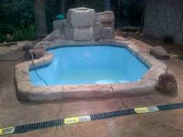 Air condition and swimming pools, rock art