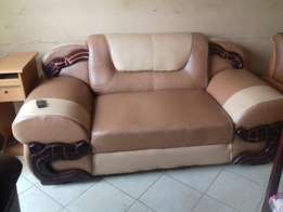 Two seater soft leather seat.