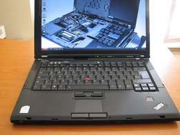 Lenovo T61 Core 2 duo it has 2 gb ram,160gb hardrive