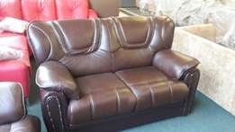 Genuine leather uppers lounge suite for sale .