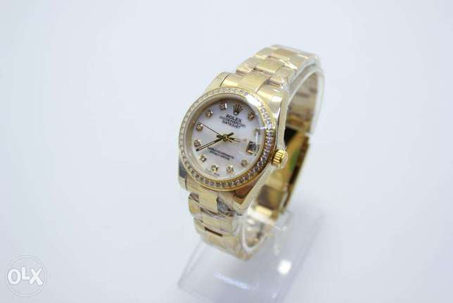 Datejust Full Gold For women ساعة حريمي