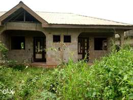 A 2bedroom + miniflat with borehole