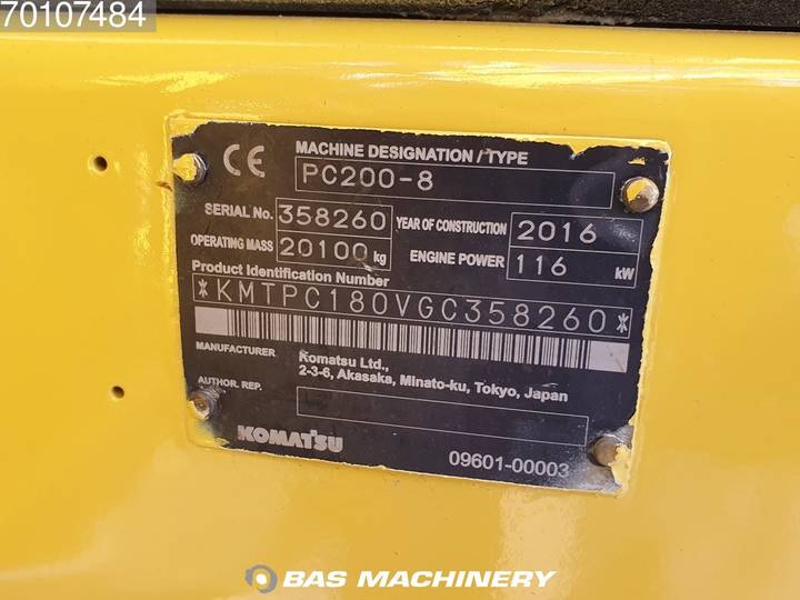 Komatsu PC200-8 Nice and clean condition - 2016 - image 18