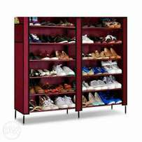 Portable shoe rack for 36 pairs