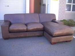 Daybed stunning Kariba full leather all round leather couch in buffed