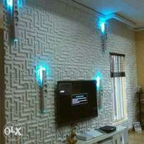 3D Wallpanel ,Wallpaper ,Window Blinds