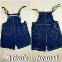 Denim jean jumpsuit